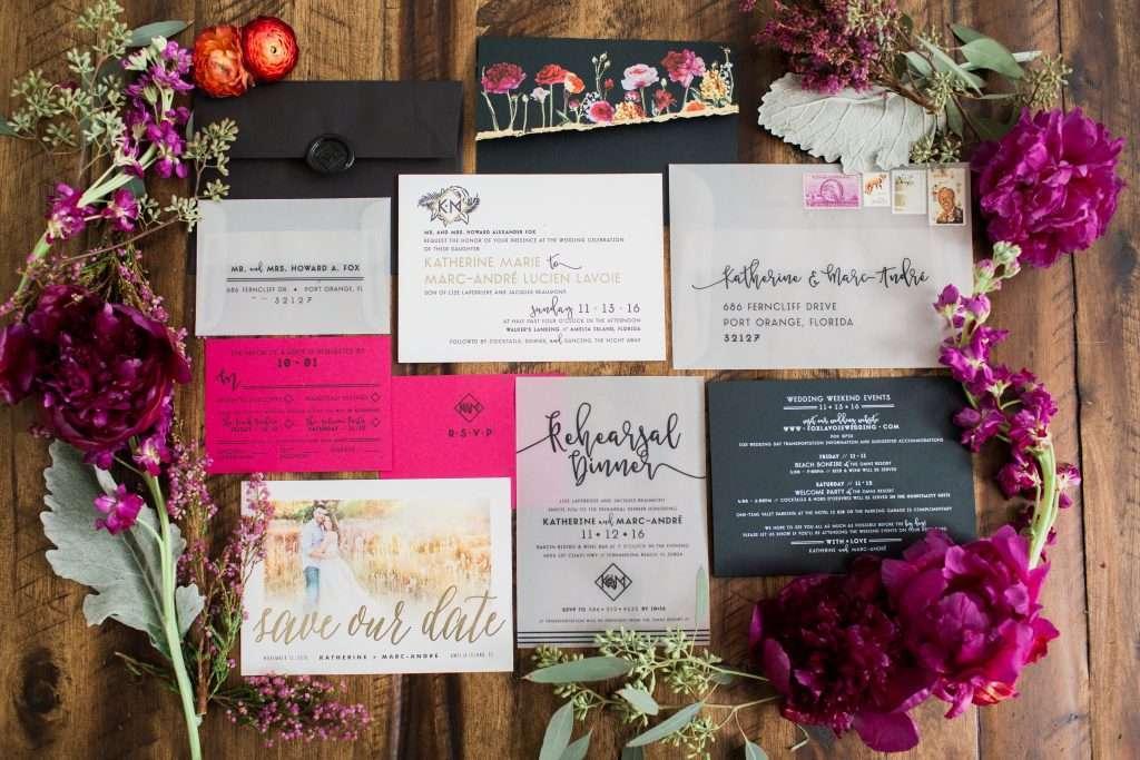 wedding invitation, custom monogram, letterpress