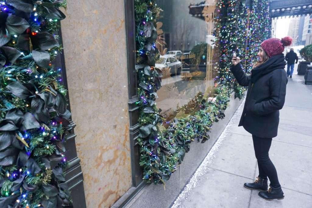 5th Ave, NYC, window displays