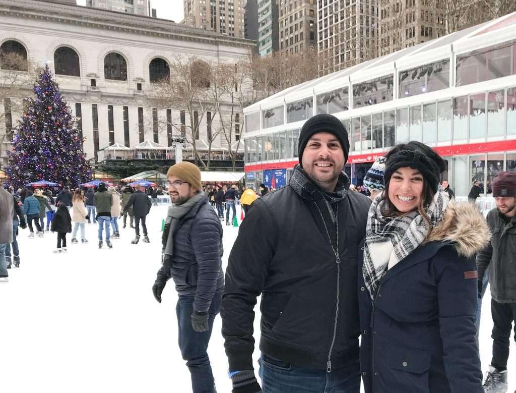 Bryant Park, NYC, ice skating, holidays