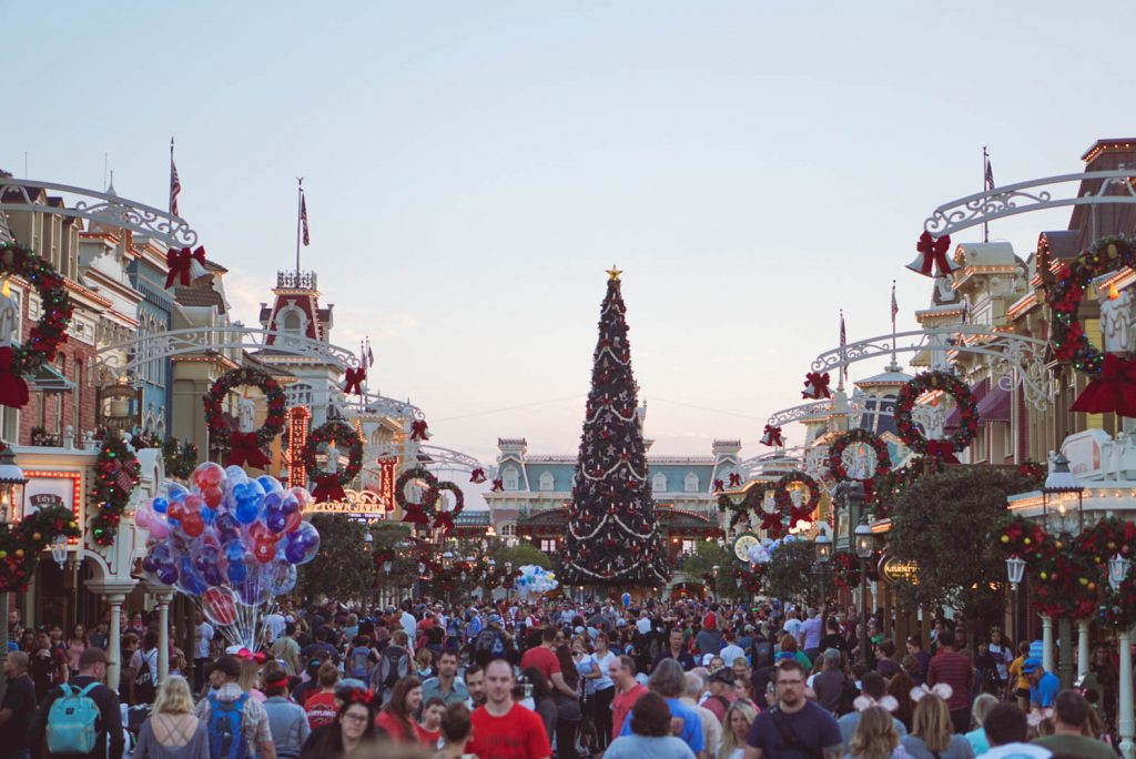 best time to visit Disney, Disney World crowds, Disney Christmas