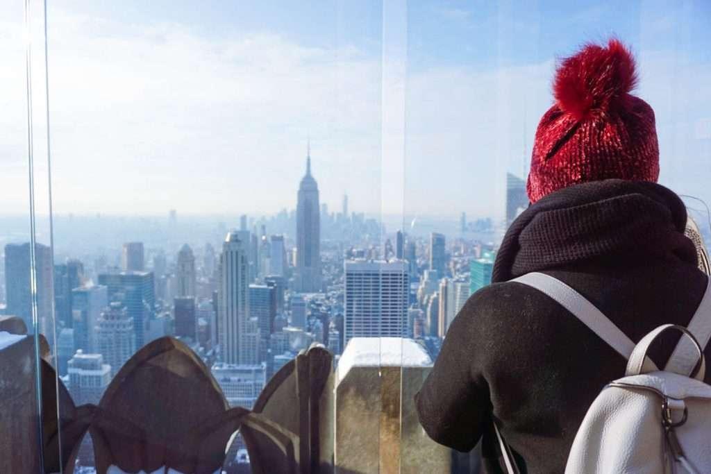 Top of the Rock, Rockefeller, Empire State Building, New York City, City Skyline, #NYCskyline #TopoftheRock #WinterinNYC #NYCguide