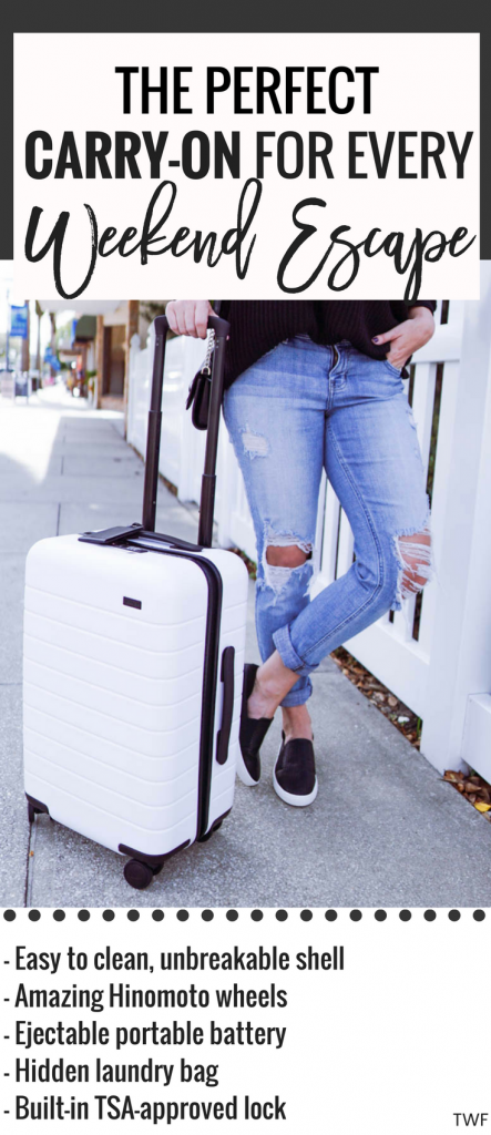 Carry-on, Away luggage, Away carry-on, best carry-on, how to pack for a weekend, weekend getaway luggage, smart luggage, affordable smart luggage, #AwayTravel #AwayLuggage #CarryOn