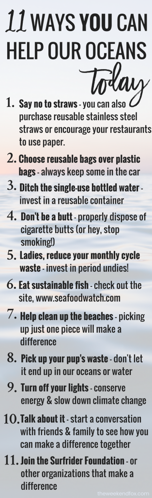 Help Our Oceans, Save Our Oceans, Things to do to help our oceans, Ways to make a difference, Protect Our Oceans, How to help our environment, Easy changes to make, #ocean #floridablog #makeadifference
