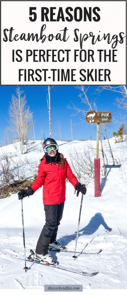 Steamboat Springs, First-Time Skier, Ski Trip, Steamboat Springs Things to Do, Steamboat Springs Skiing, Colorado, Travel Colorado, Ski Tips #travelblog #travelcolorado #vacation #traveltips