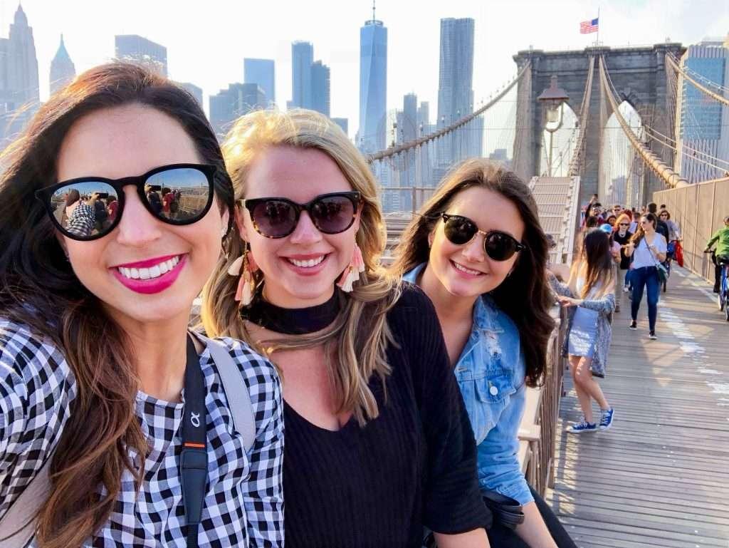 Brooklyn Bridge, Manhattan, Manhattan skyline, girls getaway, girls weekend, girls weekend ideas, girls trip, girls trip ideas, girls in the city, New York City, NYC, weekend in NYC, girls trip to NYC, where to brunch in NYC, New York City brunch, weekend highlights, #NYCtips #NYCrestaurants #travelblog