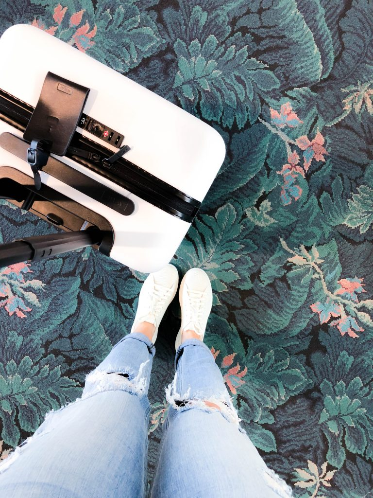 Daytona Beach Airport, DAB, airport carpet, Away Travel, Away carry-on, Cole Hahn shoes, airport, travel blogger, #travelblog