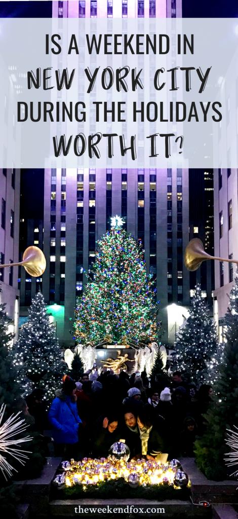 New York City, NYC holidays, NYC in winter, visit New York City, Rockefeller Christmas Tree, When to Visit NYC, NYC Christmas, Holiday Travel, Christmas Vacation Ideas, #travelblog #nyc #newyorkcity