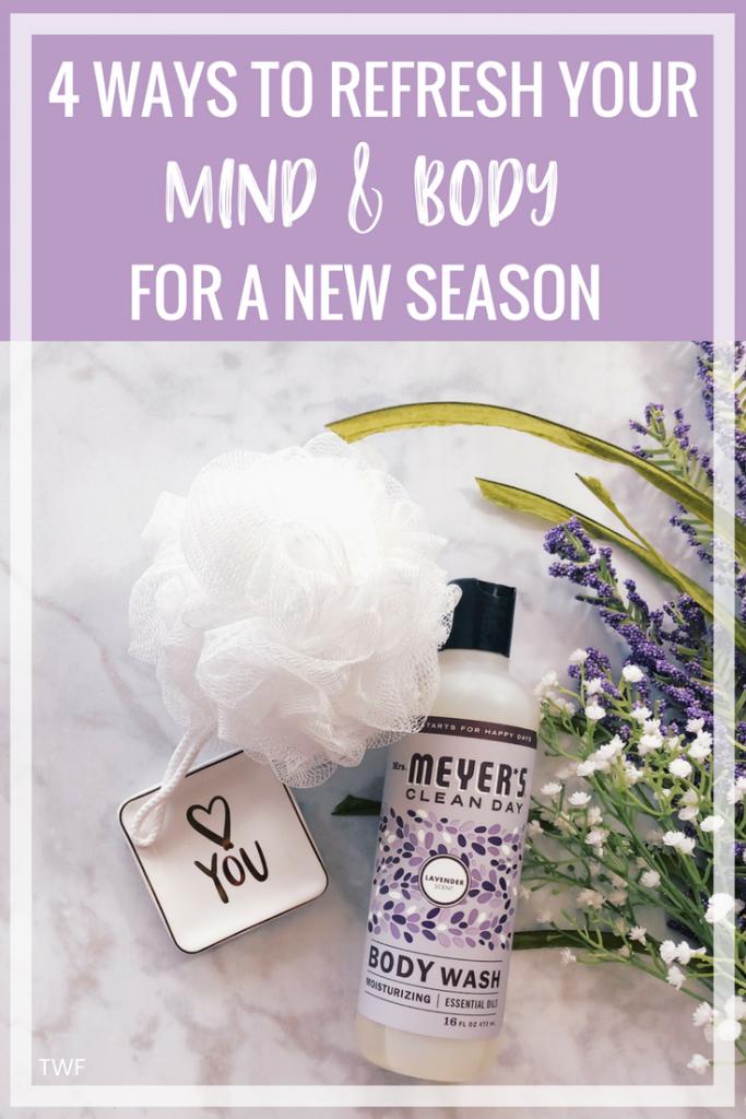 4 Ways to Refresh Your Mind & Body For a New Season // #ad #MrsMeyersBodyWash Mrs. Meyer's Body Wash, Mrs. Meyer's Clean Day, Lavender Body Wash, Best Body Wash, Spring