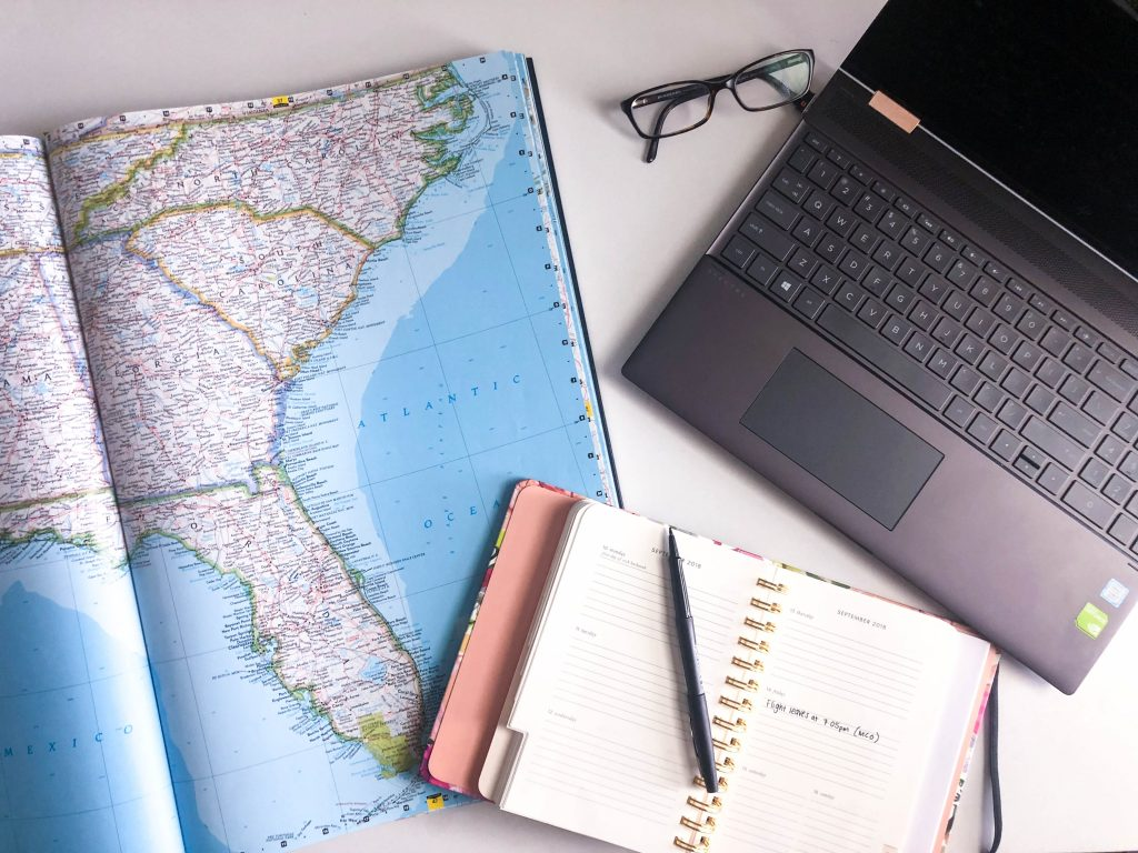 How to Beat the Post-Vacation Blues // vacation planning, trip planning, travel inspiration, atlas and laptop
