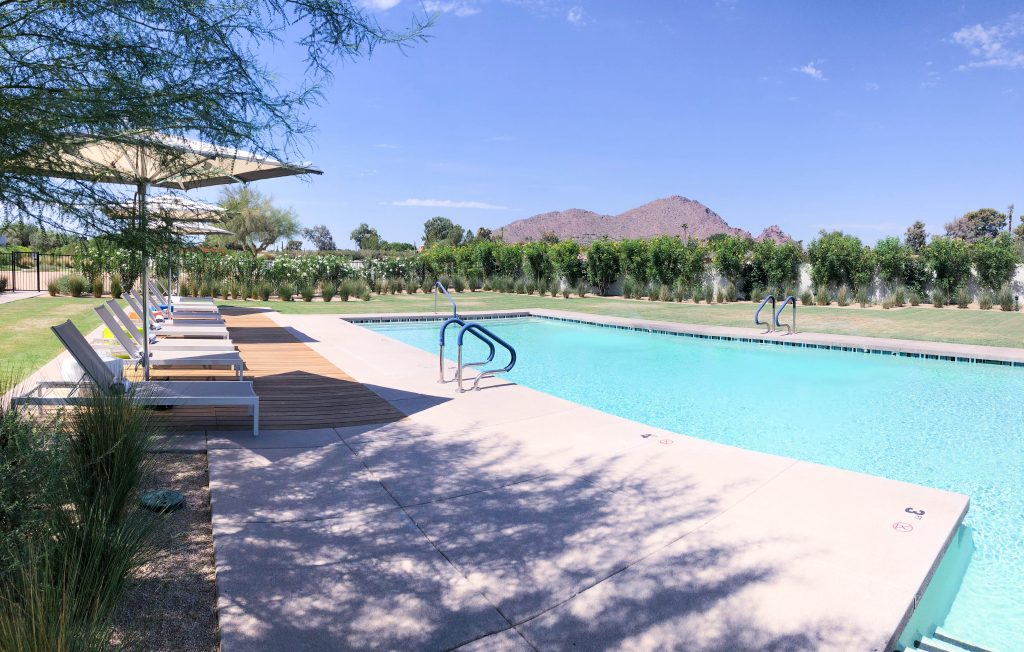 Andaz Scottsdale spa pool, Camelback Mountain view, #travelblog