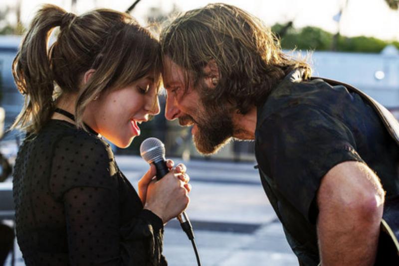 A Star is Born Movie Still, Bradley Cooper and Lady Gaga