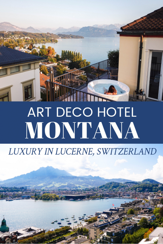 Where to Stay in Lucerne, Switzerland // Art Deco Hotel Montana, luxury in Lucerne, drone view, hotels in Lucerne, Luzern, hotel suites in Luzern #lucerne #switzerland #hotelreview #travelblogger #travelguide #besthotels #swisshotels #lucerne #roomwithaview #theweekendfox