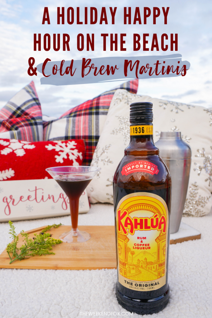 Cold Brew Martini Recipe, Kahlúa, Holiday Cocktails, Holidays on the Beach, Double Date Night Ideas, Holiday Season, Holiday Drinks, Cold Brew Martini with Kahlúa, Holiday Inspiration, Lifestyle Blogger #ad #Kahlúa #ColdBrewMartini #holidays #seasonaldrinks #cocktails #easycocktails #easymartini #martinis #Christmastime #holidaydrinks #doubledate #floridablogger #beachdate #theweekendfox