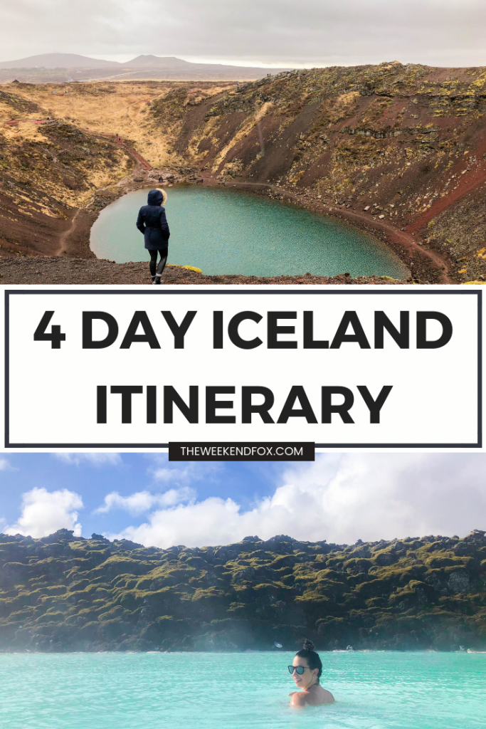 4 days in Iceland, 4 Day Iceland Itinerary, Iceland travel guide for 4 days, 4 days in Iceland, Reykjavik, Golden Circle Guide, Iceland tips, Iceland guide, Iceland inspiration, travel #travel #travelblog #iceland #icelandguide #icelanditinerary #visiticeland #reykjavik #theweekendfox