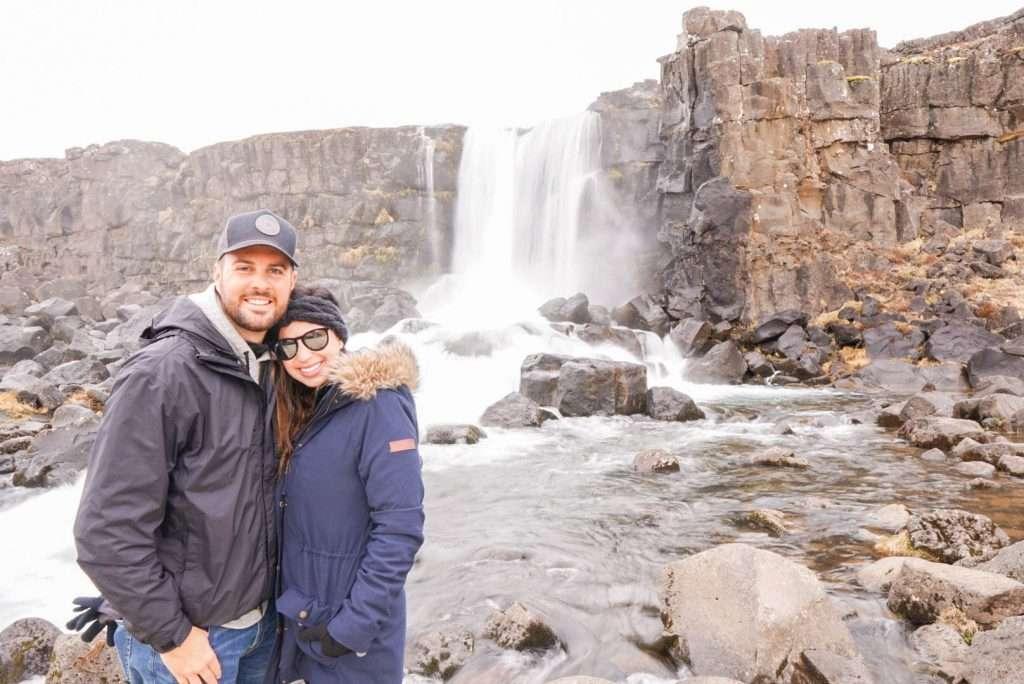 Oxarasfoss Waterfall at Þingvellir