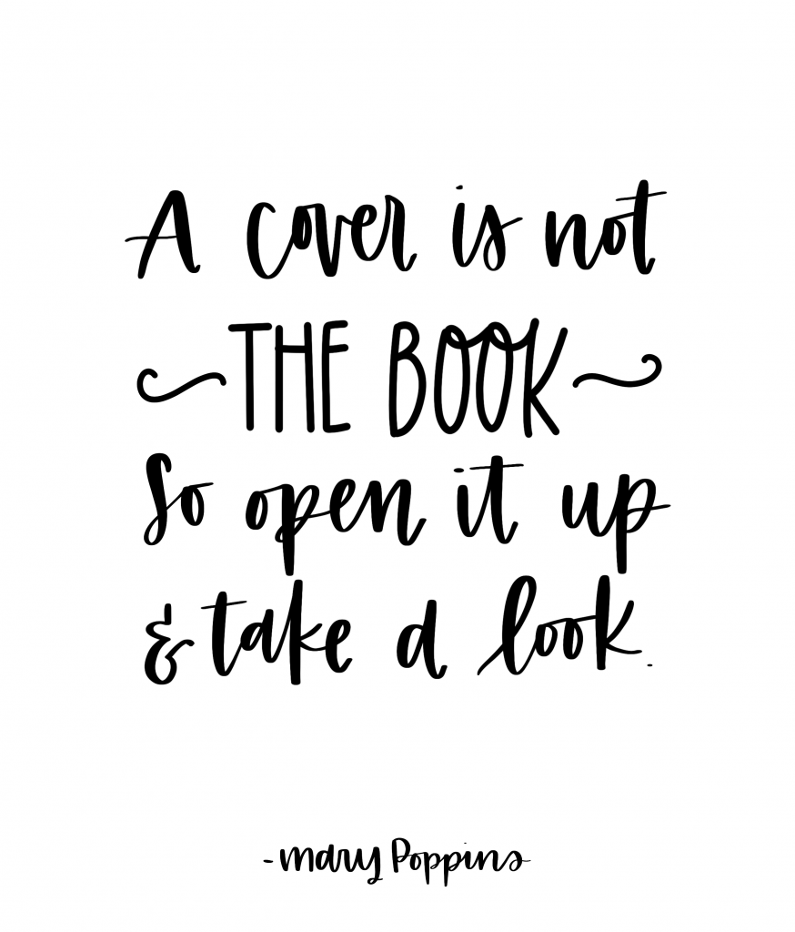 A cover is not the book. So open it up and take a look | Mary Poppins Returns, Quotes from Mary Poppins Returns, Song lyrics from Mary Poppins Returns, A Cover Is Not The Book #disney #moviequotes #marypoppins