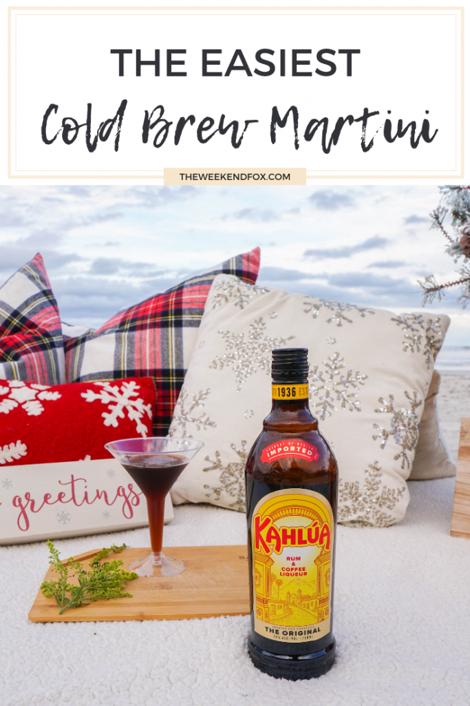 Easy Cold Brew Martini Recipe // Cold Brew Martini Recipe, Kahlúa, Holiday Cocktails, Holidays on the Beach, Double Date Night Ideas, Holiday Season, Holiday Drinks, Cold Brew Martini with Kahlúa, Holiday Inspiration, Lifestyle Blogger #ad #Kahlúa #ColdBrewMartini #holidays #seasonaldrinks #cocktails #easycocktails #easymartini #martinis #Christmastime #holidaydrinks #doubledate #floridablogger #beachdate #theweekendfox