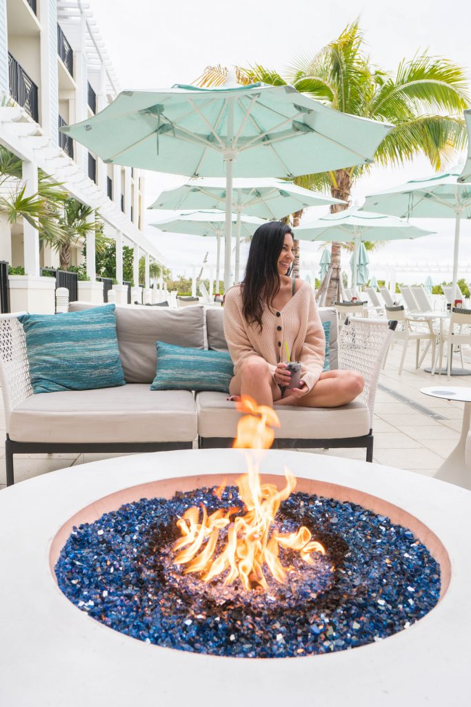Fire pit at Hutchinson Shores Resort and Spa