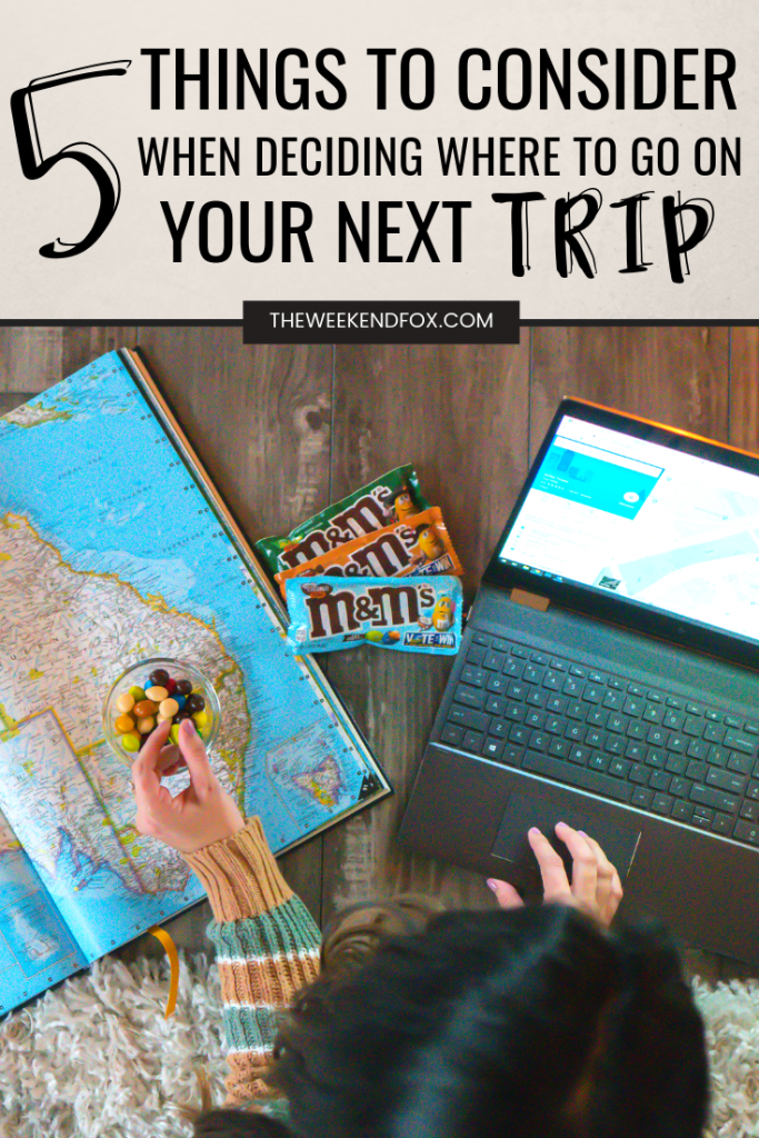 5 Things to Consider When Planning Your Next Trip // New M&M'S candies, M&M'S flavors, Thai Coconut Peanut, Mexican Jalapeno Peanut, English Toffee Peanut, Deciding Where to Go, Vacation Inspiration, where to go on a trip, how to choose a vacation, flavor inspiration, new candies, #travelblogger #floridablogger #vacationinspiration #planningatrip #travelguide #m&ms #flavorvote2019 #ad