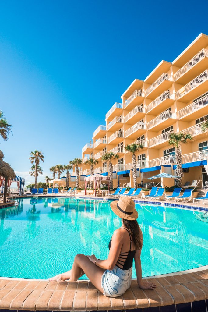best place to stay in Daytona Beach // pool at The Shores Resort and Spa