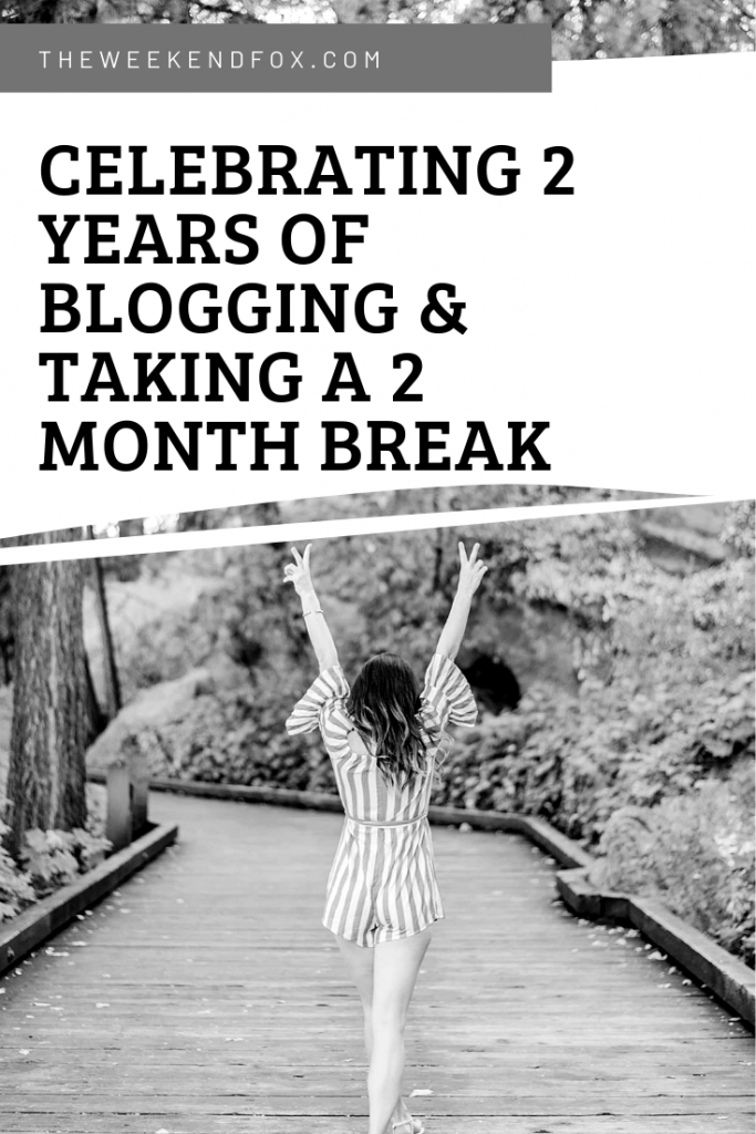 Celebrating 2 Years of Blogging & Taking a 2 Month Break // A Summer of Growth