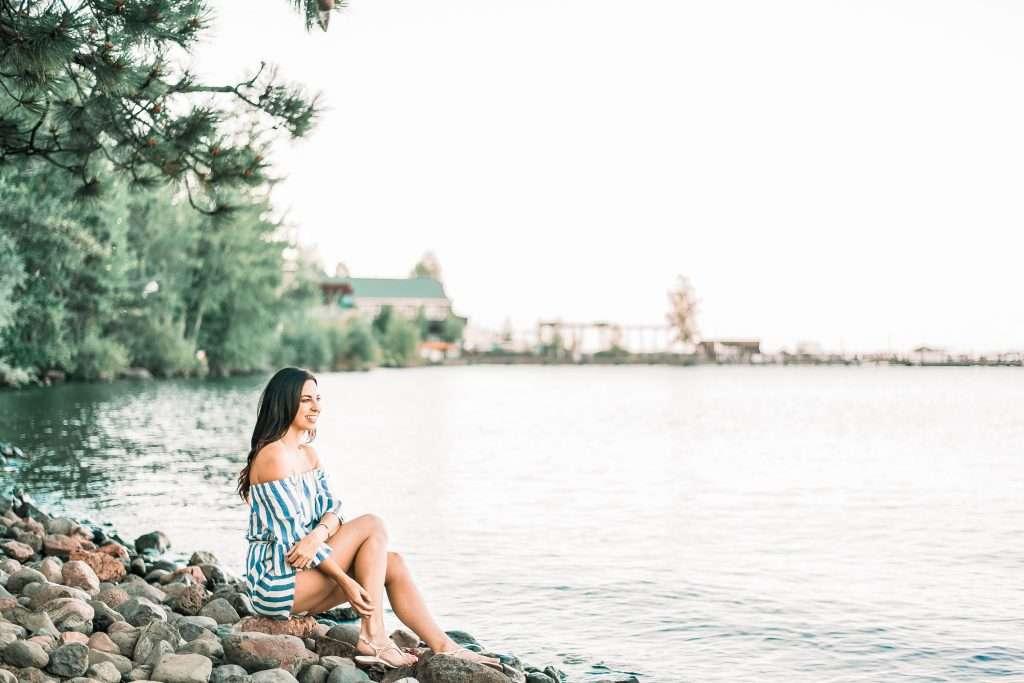 Girl sitting at Lake Tahoe // I'm Getting Divorced