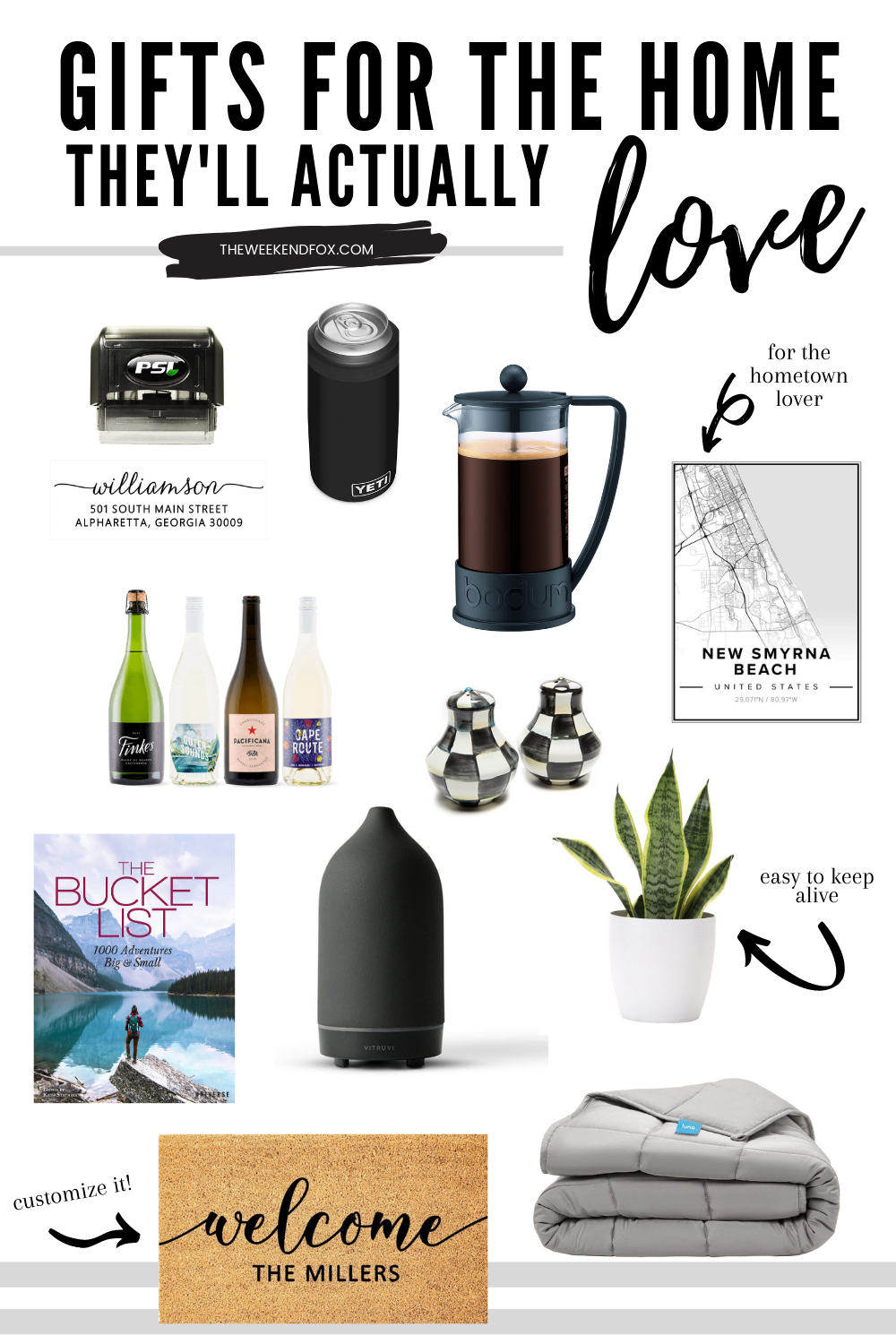 Best gifts for the home, affordable housewarming gifts, gifts for the home they'll love, useful gifts for the home, gifts for the home under $50, #giftsforthehome #giftguide2020 #housewarminggifts #bestgifts